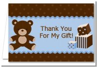 Teddy Bear Blue - Baby Shower Thank You Cards