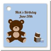 Teddy Bear - Personalized Birthday Party Card Stock Favor Tags