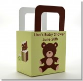 Teddy Bear Neutral - Personalized Baby Shower Favor Boxes