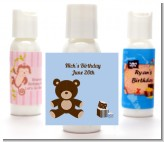 Teddy Bear - Personalized Birthday Party Lotion Favors