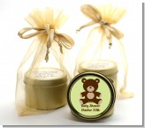 Teddy Bear Neutral - Baby Shower Gold Tin Candle Favors