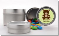 Teddy Bear Neutral - Custom Baby Shower Favor Tins