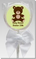 Teddy Bear Neutral - Personalized Baby Shower Lollipop Favors