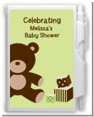 Teddy Bear Neutral - Baby Shower Personalized Notebook Favor