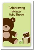 Teddy Bear Neutral - Custom Large Rectangle Baby Shower Sticker/Labels