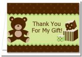 Teddy Bear Neutral - Baby Shower Thank You Cards