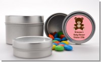 Teddy Bear Pink - Custom Baby Shower Favor Tins
