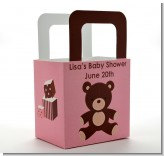 Teddy Bear Pink - Personalized Baby Shower Favor Boxes