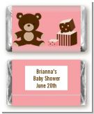 Teddy Bear Pink - Personalized Baby Shower Mini Candy Bar Wrappers