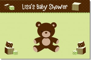Teddy Bear Neutral - Personalized Baby Shower Placemats