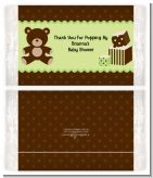 Teddy Bear Neutral - Personalized Popcorn Wrapper Baby Shower Favors