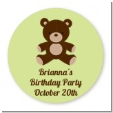 Teddy Bear - Round Personalized Birthday Party Sticker Labels