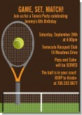 Tennis - Birthday Party Invitations