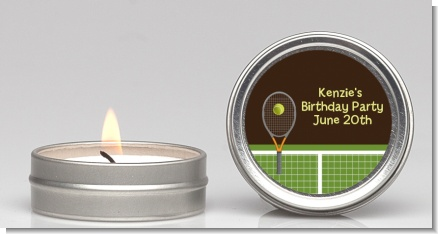 Tennis - Birthday Party Candle Favors