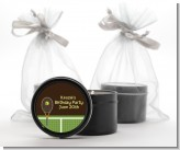Tennis - Birthday Party Black Candle Tin Favors