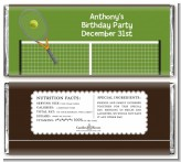Tennis - Personalized Birthday Party Candy Bar Wrappers