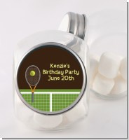 Tennis - Personalized Birthday Party Candy Jar