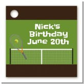Tennis - Personalized Birthday Party Card Stock Favor Tags