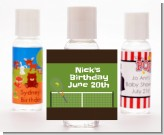 Tennis - Personalized Birthday Party Hand Sanitizers Favors