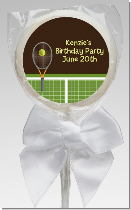 Tennis - Personalized Birthday Party Lollipop Favors