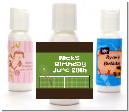 Tennis - Personalized Birthday Party Lotion Favors