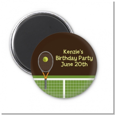 Tennis - Personalized Birthday Party Magnet Favors