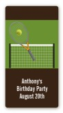 Tennis - Custom Rectangle Birthday Party Sticker/Labels