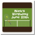 Tennis - Square Personalized Birthday Party Sticker Labels thumbnail