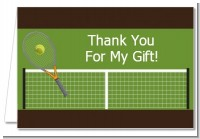 Tennis - Birthday Party Thank You Cards