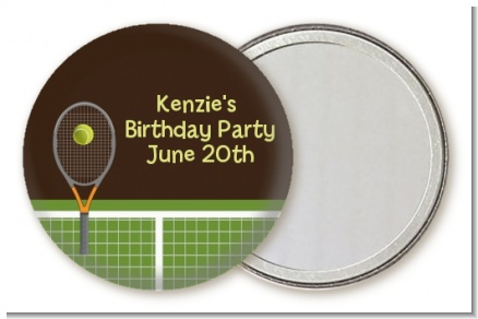Tennis - Personalized Birthday Party Pocket Mirror Favors