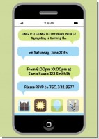 Social Media Texting - Birthday Party Invitations