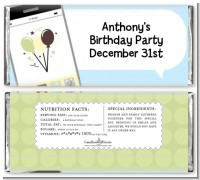Social Media Texting - Personalized Birthday Party Candy Bar Wrappers