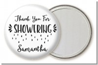 Thank You For Showering - Personalized Bridal Shower Pocket Mirror Favors