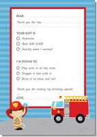 Future Firefighter - Birthday Party Fill In Thank You Cards