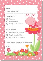 Modern Ladybug Pink - Birthday Party Fill In Thank You Cards