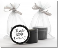 Thanks For Coming - Baby Shower Black Candle Tin Favors