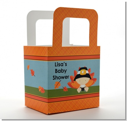 Little Turkey Boy - Personalized Baby Shower Favor Boxes
