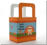Little Turkey Girl - Personalized Baby Shower Favor Boxes