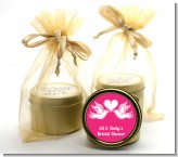 The Love Birds - Bridal Shower Gold Tin Candle Favors