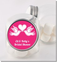 The Love Birds - Personalized Bridal Shower Candy Jar