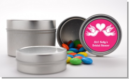 The Love Birds - Custom Bridal Shower Favor Tins