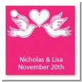 The Love Birds - Personalized Bridal Shower Card Stock Favor Tags thumbnail
