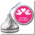 The Love Birds - Hershey Kiss Bridal Shower Sticker Labels thumbnail