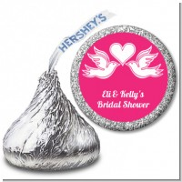 The Love Birds - Hershey Kiss Bridal Shower Sticker Labels