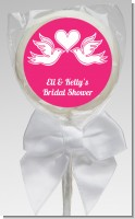 The Love Birds - Personalized Bridal Shower Lollipop Favors