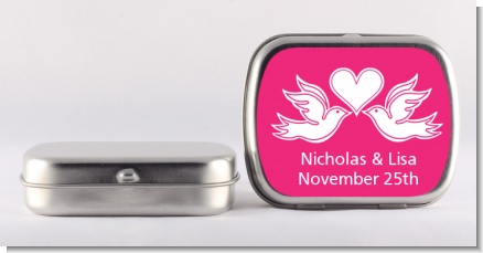 The Love Birds - Personalized Bridal Shower Mint Tins