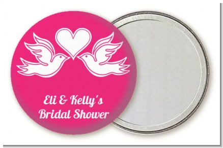 The Love Birds - Personalized Bridal Shower Pocket Mirror Favors