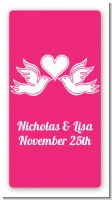 The Love Birds - Custom Rectangle Bridal Shower Sticker/Labels