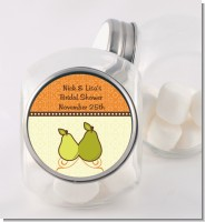 The Perfect Pair - Personalized Bridal Shower Candy Jar