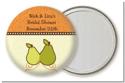 The Perfect Pair - Personalized Bridal Shower Pocket Mirror Favors